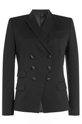 The Kooples Wool Double Breasted Blazer Black