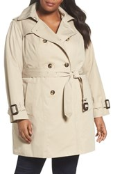 London Fog Plus Size Heritage Trench With Detachable Liner