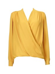 Wallis Mustard Wrap Top Mustard Yellow