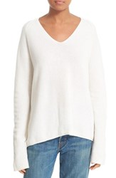 Vince Women's Deep V Neck Cashmere Pullover Off White