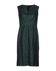 Escada Knee Length Dresses Emerald Green