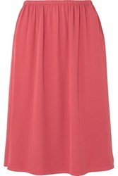 Theory Silk Crepe Skirt Red
