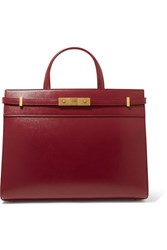Saint Laurent Manhattan Small Leather Tote Burgundy