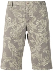 Etro Wild Nature Printed Shorts Nude And Neutrals