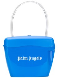Palm Angels Logo Print Padlock Bag Blue