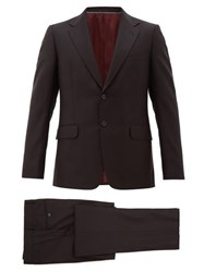 Gucci London Single Breasted Wool Blend Two Piece Suit Black