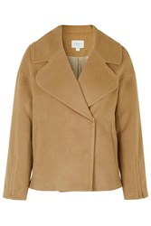 Panel Patchwork Oversized Jacket By Jovonna Camel