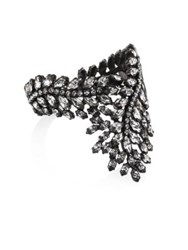 Erickson Beamon Frequent Flyer Crystal Leaf Bracelet Gunmetal