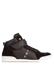 Jimmy Choo Lewis High Top Leather Trainers Black