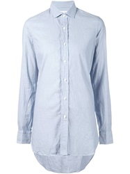 Salvatore Piccolo High Low Hem Shirt Blue
