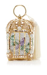 Judith Leiber Couture Gilded Birdcage Clutch Gold