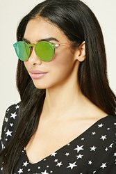 Forever 21 Round Iridescent Sunglasses Pink Pink