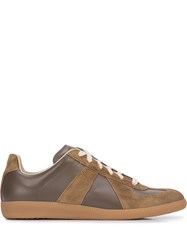 Maison Martin Margiela Panelled Sneakers Brown