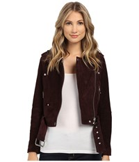 Blank Nyc Burgundy Suede Moto Jacket In Morning After Morning After Women's Coat