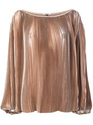 Krizia Pleated Shirt Nude And Neutrals
