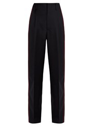 Golden Goose Erin Side Striped Wool Trousers Navy