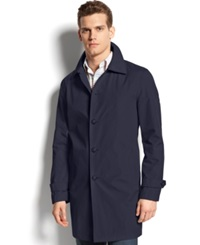 Tommy Hilfiger Single Breasted Raincoat Navy