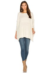 Fine Collection Dolly Fringe Sweater Ivory