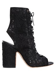 Laurence Dacade 100Mm Nelly Lace Up Open Toe Boots