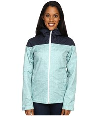 Adidas Wandertag Jacket Print Vapour Steel Mineral Blue Women's Coat Green