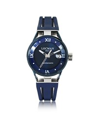 Locman Montecristo Stainlees Steel And Titanium Women's Watch W Silicone Strap Blue