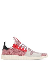 Adidas By Pharrell Williams Afro Tennis Hu V2 Primeknit Sneakers Scarlet