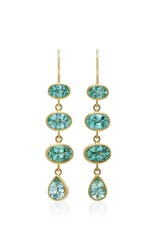 Mallary Marks 18K Gold Green Paraiba Earrings Blue