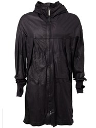 Isaac Sellam Experience Hooded Zip Coat Black