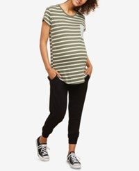 Motherhood Maternity Under Belly Jogger Pants Black