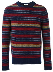 Carven Striped Crew Neck Pullover Multicolour