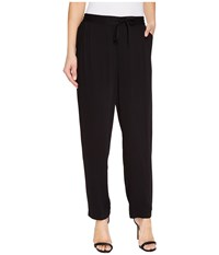 Vince Camuto Drapey Rayon Twill Drawstring Jogger Pants Rich Black Women's Casual Pants