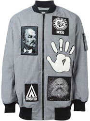 Ktz Patch Bomber Jacket Grey
