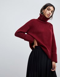 Baandsh Ba Sh Oversized Rollneck Red