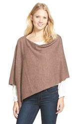 Women's In Cashmere Convertible Cashmere Poncho Brown Heather Caramel