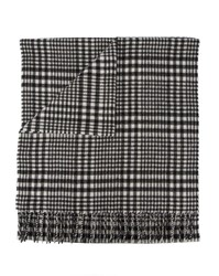 Scotch And Soda Black White Plaid Scarf