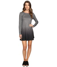 Culture Phit Leighton Long Sleeve Ombre Dress Charcoal Women's Dress Gray