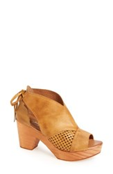 Free People Women's Revolver Open Toe Clog Taupe Leather