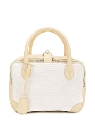 Golden Goose Woven Side Zip Bag Neutrals