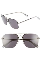 Elizabeth And James Mason 57Mm Rimless Navigator Sunglasses Black Smoke Black Smoke