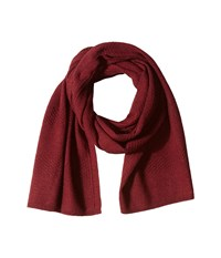 Cole Haan Tuck Stitch Muffler Zinfandel Scarves Brown