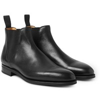 Edward Green Camden Cross Grain Leather Chelsea Boots Black