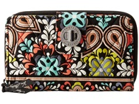 Vera Bradley Turn Lock Wallet Sierra Wallet Handbags Orange