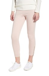 Lysse Cuff Crop Denim Leggings Blush