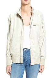 Members Only Women's 'Ex Boyfriend' Bomber Jacket Bone
