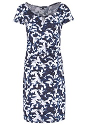 Comma Jersey Dress Blue
