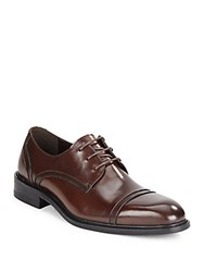 Kenneth Cole Be Leave It Leather Derby Shoes Brown