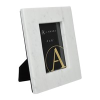 Amara Marble Photo Frame 4X6 White