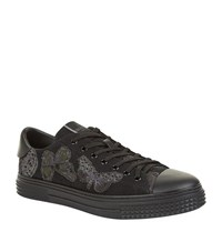 Valentino Butterfly Low Top Sneakers Male Black