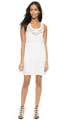 Sea Tribal Lace Combo Tank Dress White