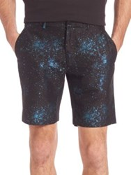 Opening Ceremony Speckle Metallic Shorts Black Multi